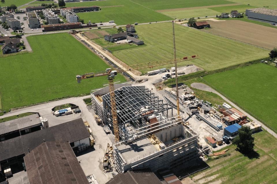 Stahlkonstruktion-Dach